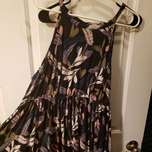 TORRID feather pattern high low dress.